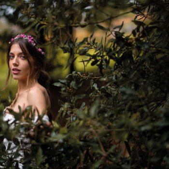 Una novia en un espacio idílico