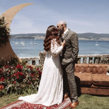 Una boda con el Atlántico de fondo
